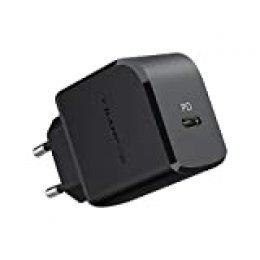 RAMPOW Cargador USB C con Power Delivery 3.0, 18W Cargador de Red Cargador de Pared QC 3.0 para iPhone 11/11 Pro/XS/XS MAX/X/XR, Samsung Galaxy S10+ / S10, Huawei Mate 30, Xiaomi y más