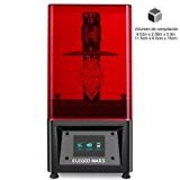 """ELEGOO MARS Impresora 3D UV Fotocurado con 3.5"""" Pantalla Táctil Inteligente de Color Impresión Fuera de Línea 115mm(L) x 65mm(W) x 150mm(H) Tamaño de Impresión-Negro"""
