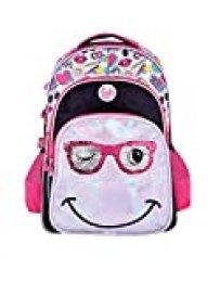 FOOTY | Mochilas para Niñas para Preescolares y Colegio De Primaria - Estilo Smile Juveniles con Lentejuelas y de Tela - Ve a la Moda - Tendencia 2020