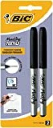 BIC Marking Ultra Fine Marcador Permanente Tejidos - Negro, Blíster de 2 unidades