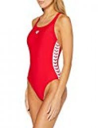 ARENA W Team Fit Racer Back One Piece Bañador Deportivo, Mujer, Red, 38