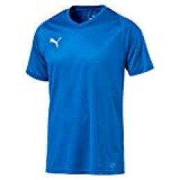 PUMA Liga Core Camiseta, Hombre, Azul (Electric Blue Lemonade-White), L