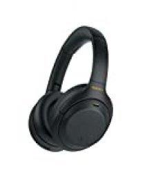 Sony WH1000XM4, Auricular Noise Cancelling inalámbrico (Bluetooth, optimizado para Alexa y Google Assistant, 30 h de batería, óptimo para Trabajar en casa, Micro Manos Libres), Negro, Talla Única
