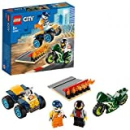 LEGO City Turbo Wheels - Equipo de Especialistas, Set de Construcción, Incluye Quad y Moto Acrobáticos, 2 Minifiguras de Pilotos con Casco y Rampa de Despegue con Llamas (60255)