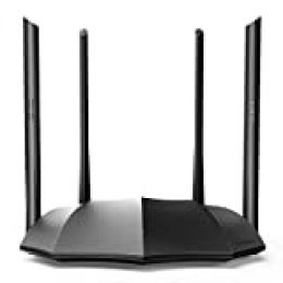 Tenda AC8 Gigabit Dual Band Smart Router (AC1200, Supports up to 1000 Mbps Bandwidth Access, IPV6, Mu-MiMo, WPS, VPN)