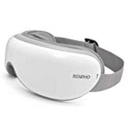 RENPHO masajeador de ojos, con calor compresión de aire presión masaje vibratorio, Bluetooth música, Plegable masajeador ocular para aliviar la tensión ocular Ojos secos Mejorar el sueño
