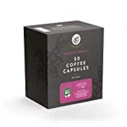Marca Amazon - Happy Belly Select Cápsulas compatibles con Nespresso® - certificado UTZ, 100 (2x50) Cápsulas - Espresso ecológico