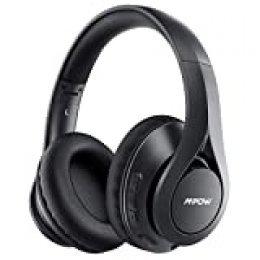 Mpow 059 Pro Auriculares Bluetooth de Diadema con 60 hrs, Bluetooth 5.0 Inalámbrico Over Ear con CVC 8.0 Micrófono, Hi-Fi Sonido, Plegable Over Ear Bluetooth Auriculares para TV, PC, Tableta, Móvil