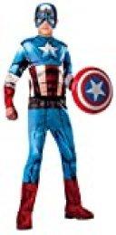 Rubie's 620019-L Avengers - Disfraz Capitán América para Niño, Talla L ( 8-10 años)