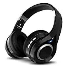 ELEGIANT Cascos Bluetooth 5.0 Inalámbricos, Auriculares Bluetooth Diadema con Micrófono CVC 6.0 Cancelación Ruido Manos Libre Sonido Nítido Estéreo 16H de Duración para TV Móviles IOS Android, Negro