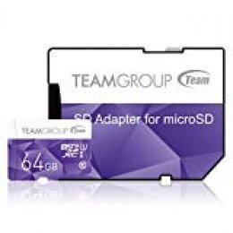 Team Group Micro SD 2 GB con Adaptador SD Tarjeta de Memoria Morado Morado 64 GB Class 10 UHS-I Colour