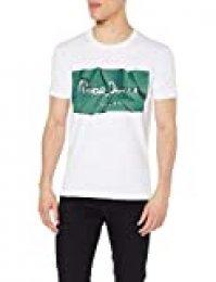 Pepe Jeans Raury Camiseta, Verde (Pine Green 672), Small para Hombre
