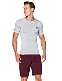 Under Armour Rush Heatgear Compression Camisa Manga Corta, Hombre, Gris, MD