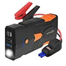 Vavofo - Batería de arranque portátil para coche, 1500 A, G23P 2019, 1200 mAh (hasta 8 L de gas, motor diésel de 6,5 l), batería de coche de 12 V