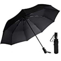 Paraguas, AMVUZ Abre/Cierra Automático Paraguas de Lluvia para el Viaje a Prueba de Viento