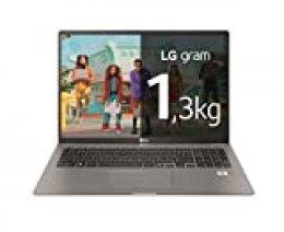 "LG gram 17Z90N-V-AA78B - Ordenador portátil ultraligero de 17"" WQXGA IPS (Intel Core i7-1065G7, 16GB RAM, 512GB SSD, Windows 10 Home+) Plata - Teclado QWERTY Español"