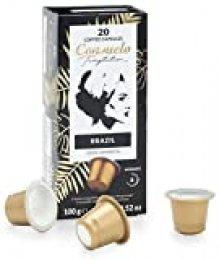 Consuelo - Cápsulas de café de Brasil compatibles con cafetera Nespresso*, 100 unidades (5 cajas de 20 cápsulas)
