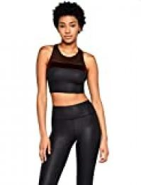 Marca Amazon - AURIQUE Velour Racerback Crop - Top deportivo Mujer