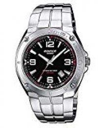 Casio EDIFICE Reloj en caja sólida, 10 BAR, Negro, para Hombre, con Correa de Acero inoxidable, EF-126D-1AVEF