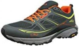 CMP - F.lli Campagnolo Hapsu Walking Shoe, Zapatillas de Marcha Nórdica para Hombre, Multicolor (Jungle/Lime 83ue), 42 EU