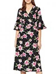 Marca Amazon - find. Vestido Cruzado de Flores Mujer, Multicolor (Pink Floral), 40, Label: M