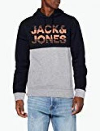 JACK & JONES Jcomilla Sweat Hood Capucha, Multicolor (Sky Captain Detail: W. New Lgm), Small para Hombre