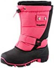 KangaROOS Kanga-Bean II, Zapatos para Nieve Unisex niños, Rosa neón y Negro, 37 EU