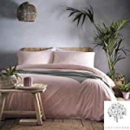 Juego de Funda de edredón Appletree, 100% algodón percal (180 Hilos)., Coral, Matrimonio Grande