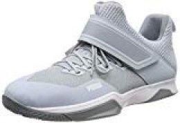 PUMA Rise XT 3 Zapatos de Futsal Unisex adulto, Grey Dawn Heather-Puma White-Tradewinds, 37 EU