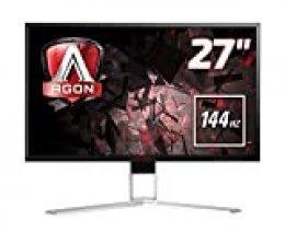 "AOC Agon AG271QX - Monitor Gaming 27"" QHD (2560 x 1440 Pixeles, 1 ms, 144 Hz, FreeSync, FlickerFree, Altavoces, USB, Displayport, HDMI)"