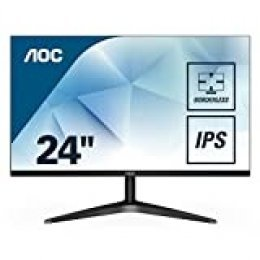 "AOC 24B1XH - Monitor IPS de 24"" con Pantalla Full HD (IPS, VGA, HDMI, Sin Bordes, FlickerFree y Low Blue Light)"
