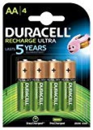 Duracell Recharge Ultra AA Prerecargada - Pila recargable 2500 mAh, 4 unidades