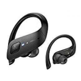 Axloie Auriculares Inalambricos Deporte IPX7 Impermeable 35H Autonomía Auriculares Bluetooth 5.0 Deportivos Cascos Inalambricos con Caja de Carga Running