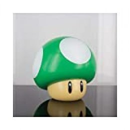 Paladone Lámpara Super Mario 1 Up Mushroom, Multicolor