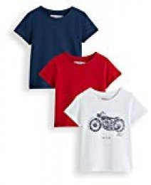 Marca Amazon - RED WAGON Camiseta Motocicleta Vintage Niños, Pack de 3