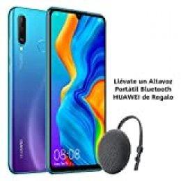 "Huawei P30 Lite - Smartphone de 6.15"" (WiFi, Kirin 710, RAM de 6 GB, memoria de 256 GB, cámara de 48+2+8 MP, Android 9) Azul + CM51 Gris"