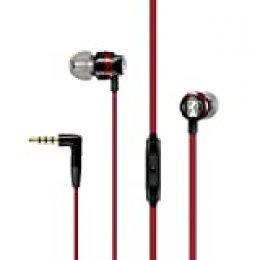 Sennheiser CX 300S - Auriculares intraurales con control remoto inteligente universal, color rojo