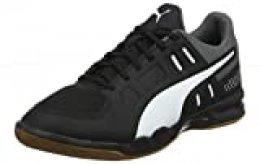 PUMA AURIZ, Zapatos de fútbol para Hombre, Negro Black White/Castlerock/Gum, 40 EU