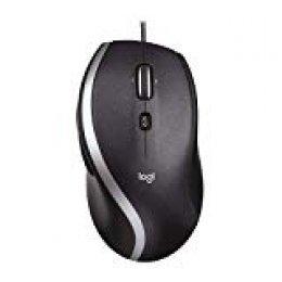 Logitech M500 Ratón con Cable USB y Desplazamiento rápido, Láser de Precisión 1000 DPI, 7 Botones, PC/Mac/Portátil, Negro