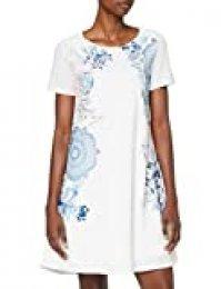 Desigual Vest_Charlotte Vestido, Blanco (Blanco 1000), Small para Mujer