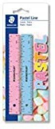 STAEDTLER 56215PSBK2ST, Reglas de Plástico de 15 Centímetros de Longitud, Blíster con dos Reglas de Colores Pastel