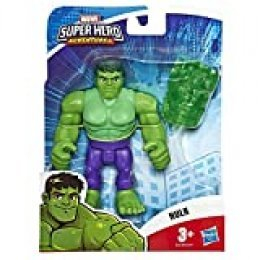 Hasbro Playskool- Heroes The_Avengers Marvel Super Hero Adventures-Hulk (Figura de acción de 12,5 cm), Multicolor, E6258ES0