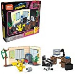 Mega Construx Pokemon Detective Pikachu, The Office of Harry Goodman, Construction Game, 183 piezas, para niños a partir de 6 años, GGK26