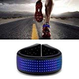 Hisome LED Shoes Clip Lights, USB 11 Modos IP67 a Prueba de Agua LED Luces de Clip de Zapatos de Seguridad Nocturna para Trotar Caminar, Bicicleta, Skateboarding(Azul)