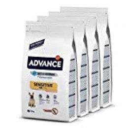 Advance Sensitive Mini - Pienso para Perros De Razas Pequeñas con Sensibilidades Digestivas con Salmón Y Arroz - Pack De 1.5Kg X 4 -Total 6 Kg 6000 g