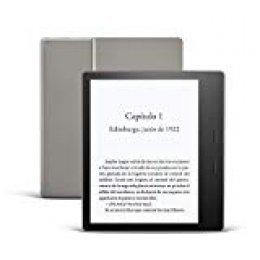 Nuevo Kindle Oasis, ahora con luz cálida ajustable, resistente al agua, 8 GB, wifi, grafito
