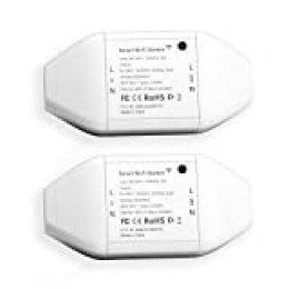 Interruptor Universal Inteligente con Wi-Fi con Control Remoto Meross App. Compatible con Alexa, Google Assistant y SmartThings. Modelo MSS710, Paquete de 2.