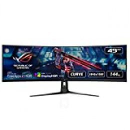 "ASUS ROG Strix XG49VQ, Monitor Gaming Ultrapanorámico (3840 X 1080P, 144 Hz, Freesync 2 HDR, Displayhdr 400, Dci-P3. 90%, Shadow Boost), 49"", Negro"
