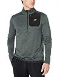 New Balance NB Heat - Camiseta con Cremallera para Hombre, Not Applicable, NB Heat Quarter Zip, Hombre, Color Pizarra Verde Jaspeado, tamaño Large