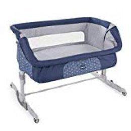 Chicco Next 2 Me Dream - Cuna de colecho con anclaje a cama, balancín y 11 alturas, color azul (Navy)